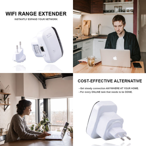 Get Wifi Range Extender to expand your internet connection across your home.
