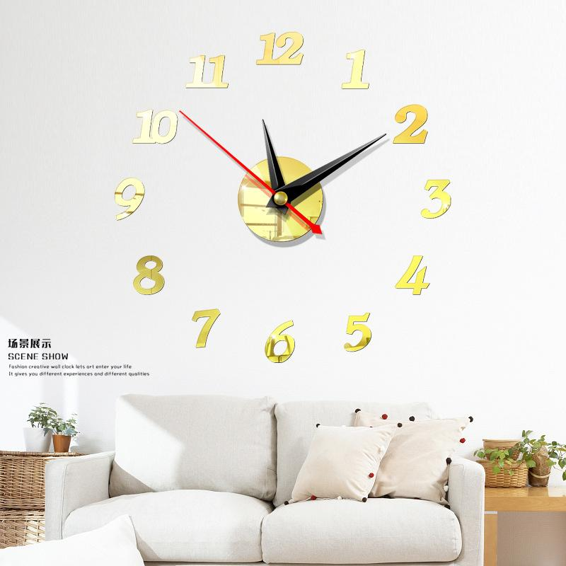 3D Wall Sticker Clock - Gear Elevation