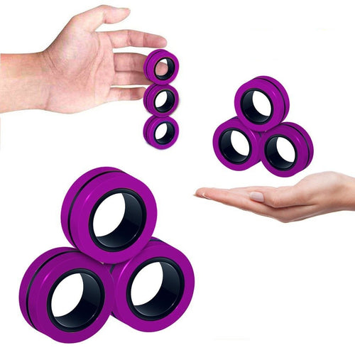 Anti-Stress Magnetic Rings Fidget Toy - Gear Elevation