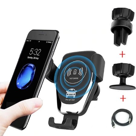 Automatic Clamping Quick Car QI Wireless Charger Stand - Gear Elevation