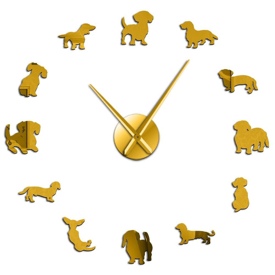 Dachshund Wall Clock - Gear Elevation