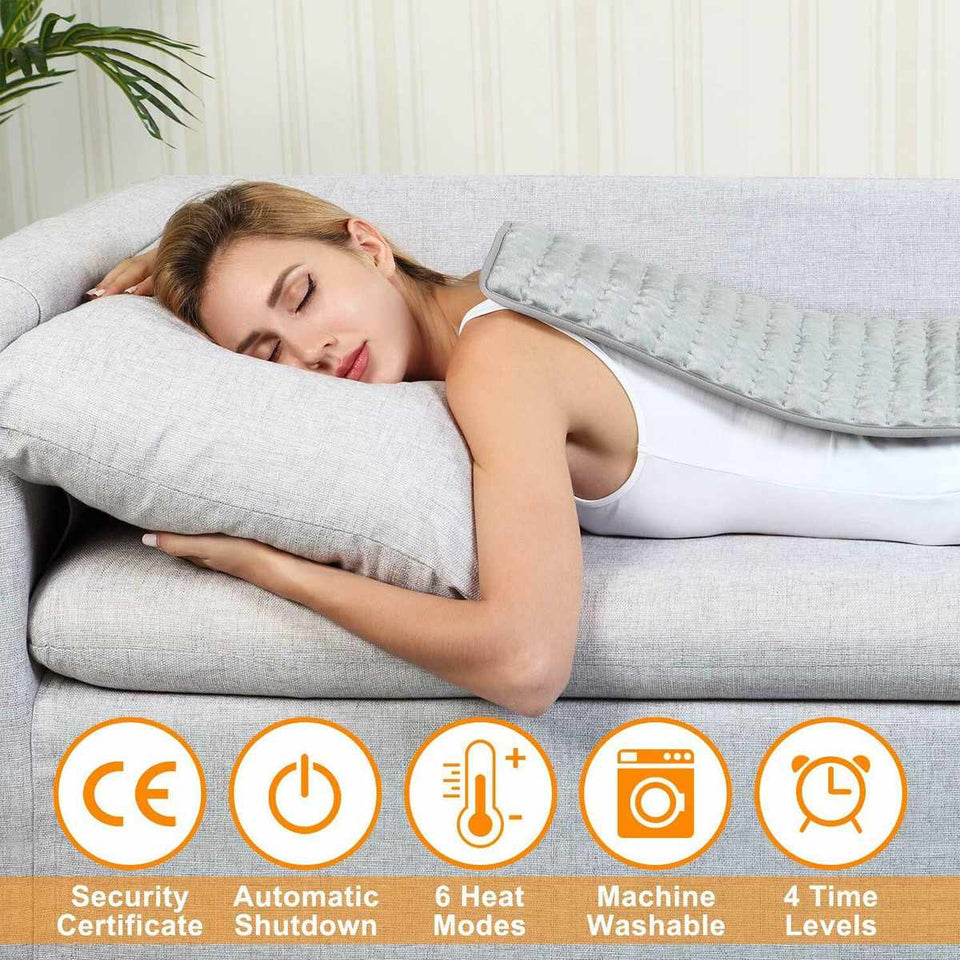 Electric Pain Relief Heating Pad with Optimized 6 Levels of Temperature and Timer - Gear Elevation
