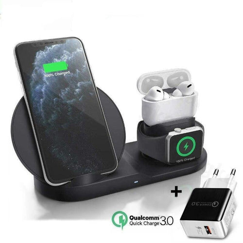 Gear Station 3.0™ - 3 in 1 Fast Wireless Charger Dock Station - Gear Elevation
