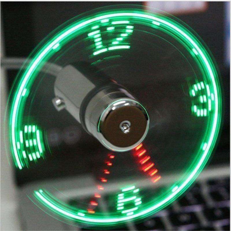 LED USB Clock Fan - Gear Elevation