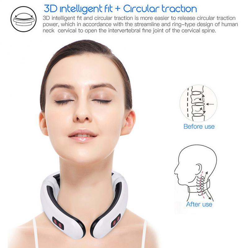 ReliefPro™ New 6-Mode Magnetic Portable Neck Massager - Gear Elevation