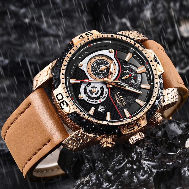 Waterproof Men's Gold Watch - Gear Elevation