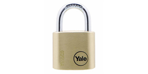 Yale Padlock Brass 30mm 4pk