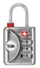 Yale Padlock TSA Combo Nickel Finish