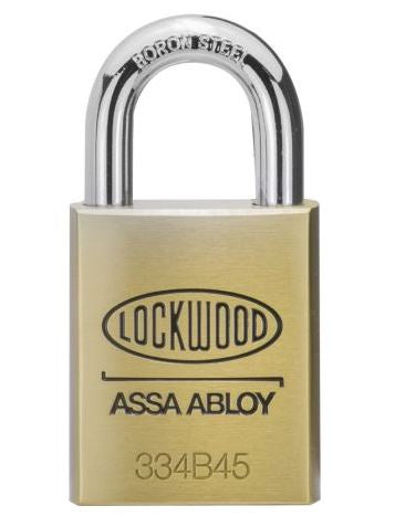 Lockwood 334 Brass body 45mm Padlock