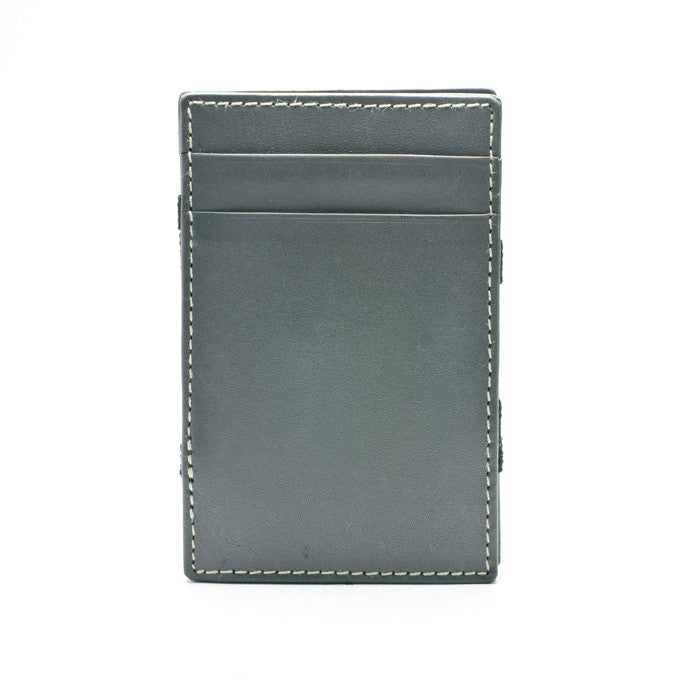PôK Wallet Card Holder Classic Grey White Stitches