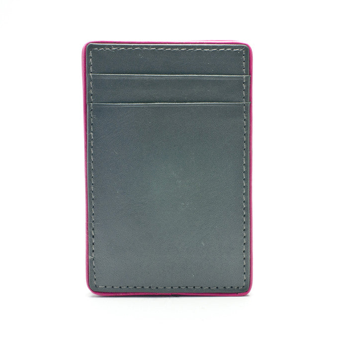 PôK Wallet Card Holder Easy Rider Grey Fuchsia
