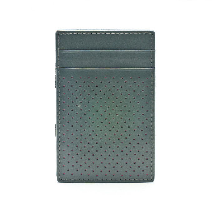 PôK Wallet Card Holder Golf Grey Fuchsia