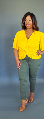Cargo High Rise Pants / (Curvy/Plus)