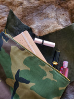 Limited edition Camouflage and  Black Leather Clutch