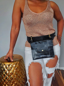 Exotically Black Fannypack
