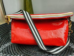 Red 2 Times Runway Clutch with Shoulder Strap
