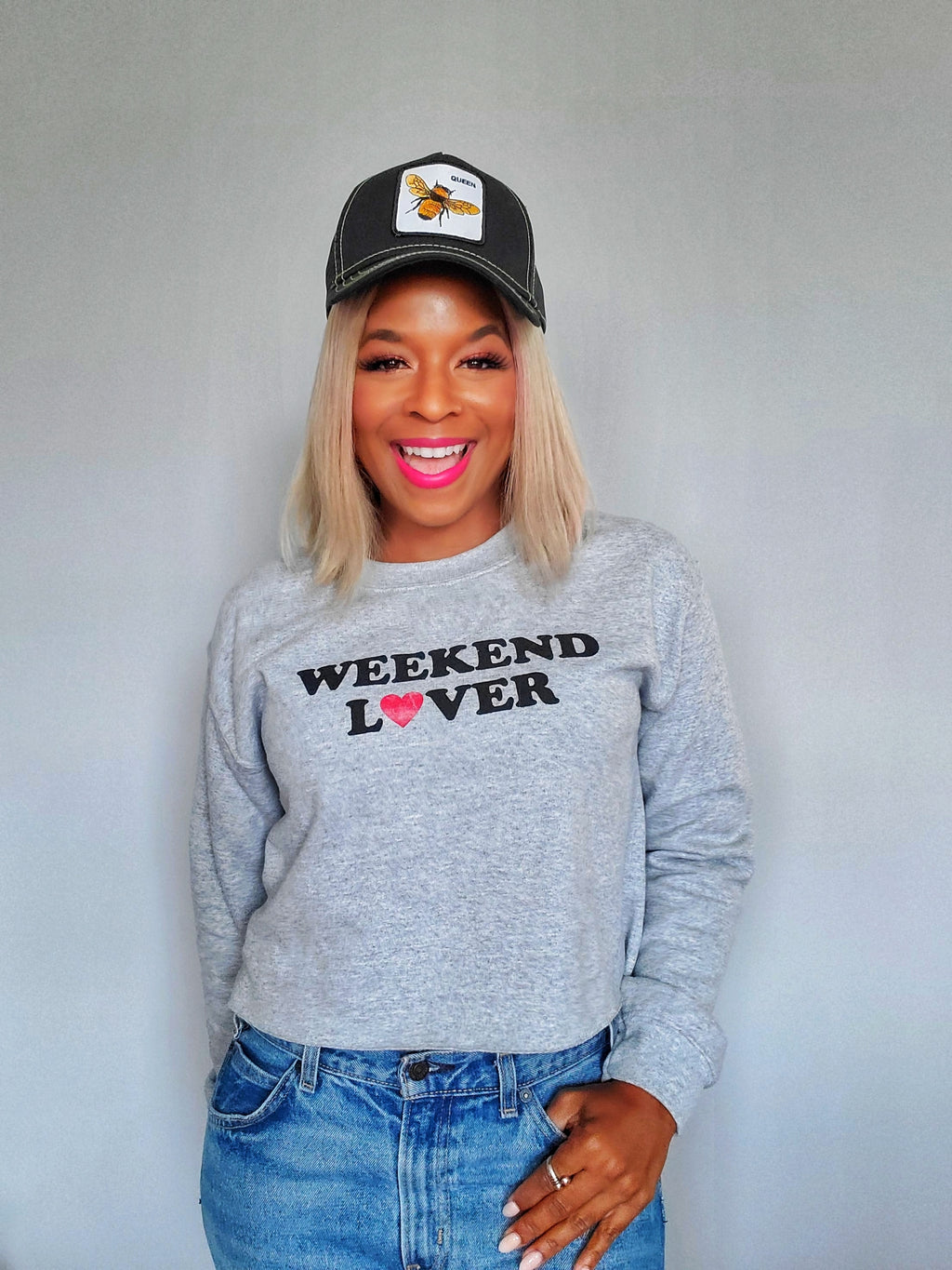 Weekend Babe Crop Sweater