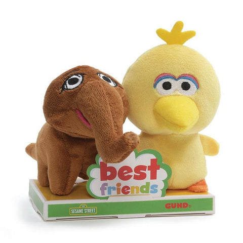 Big Bird y Snuffy Best Friends Peluches de 10cm