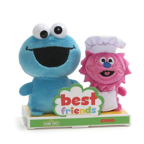 Cookie Monster y Gonger Best Friends Peluches de 10cm