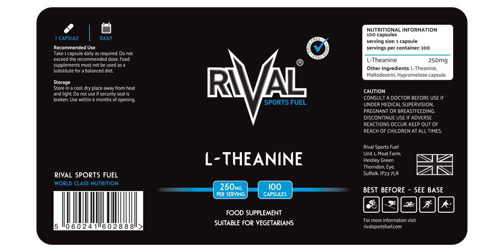 L-Theanine 250mg Vegetarian Capsules