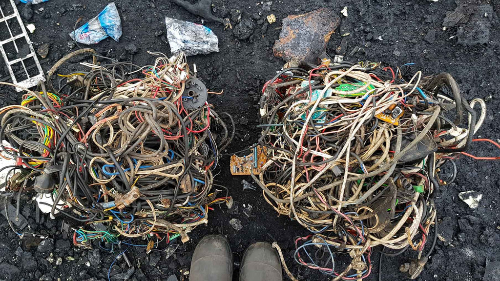 Tangled cables and wires Agbogbloshie Accra Ghana by Muntaka Chasant - ATCMASK.COM