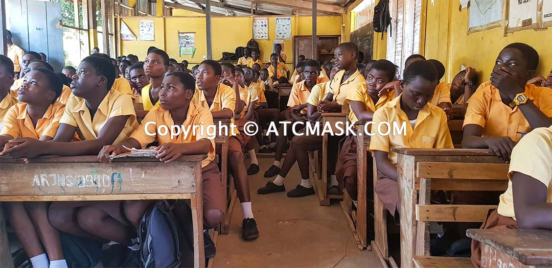 Accra Royal Junior High School ATC MASK donation Muntaka Chasant