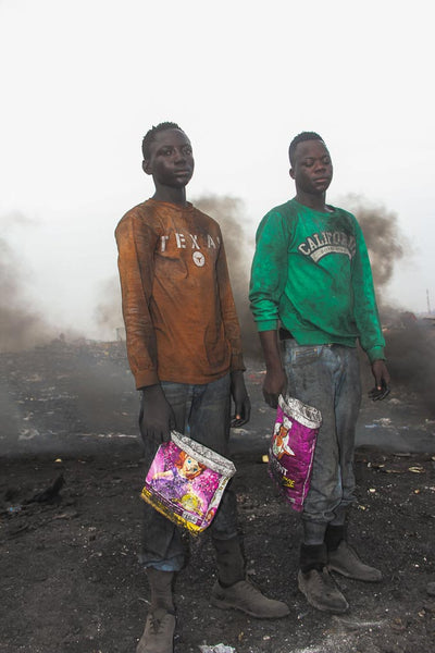 Agbogbloshie | Urban miners | Scrap workers | E-waste workers | Toxic pollution | E-waste | E-waste in Ghana | E-waste Dumpsite | Muntaka Chasant | ATC MASK