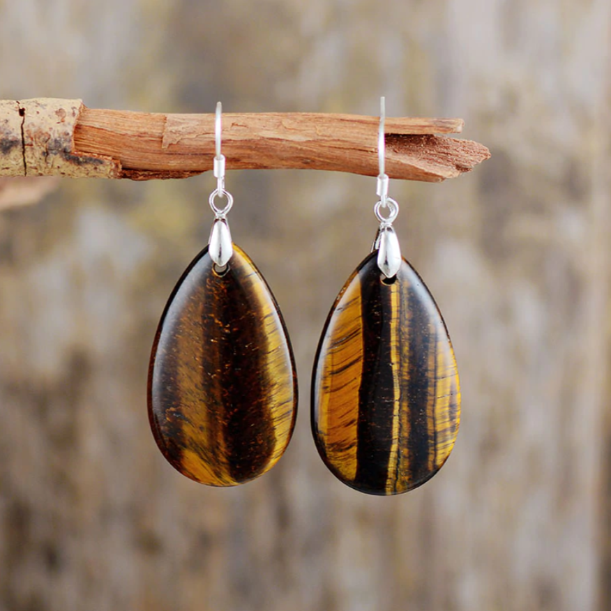 Courageous Tiger's Eye Earrings