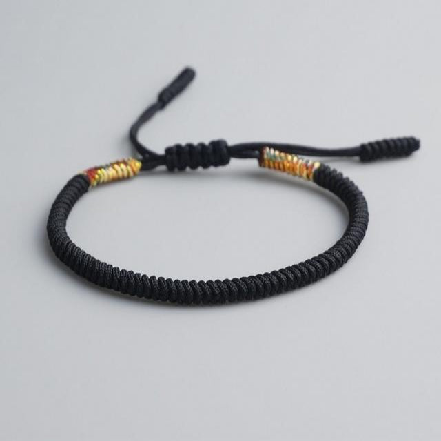 Black Tibetan Good Luck Rope Bracelet