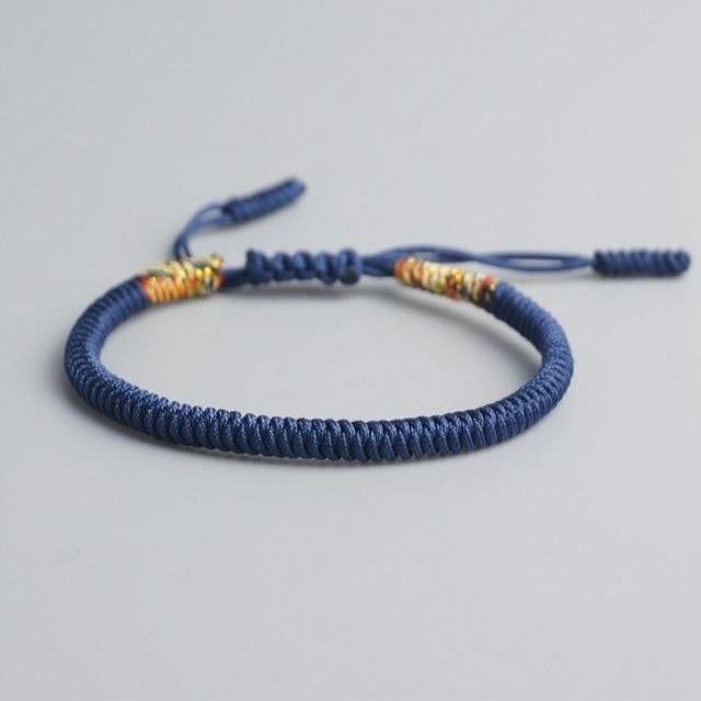 Blue Tibetan Good Luck Rope Bracelet