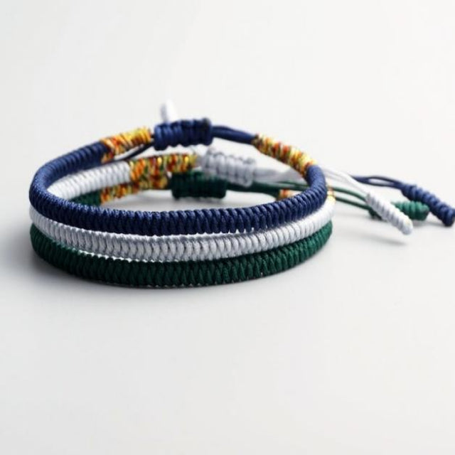 Blue/White/Green TIbetan Good Luck Rope Set