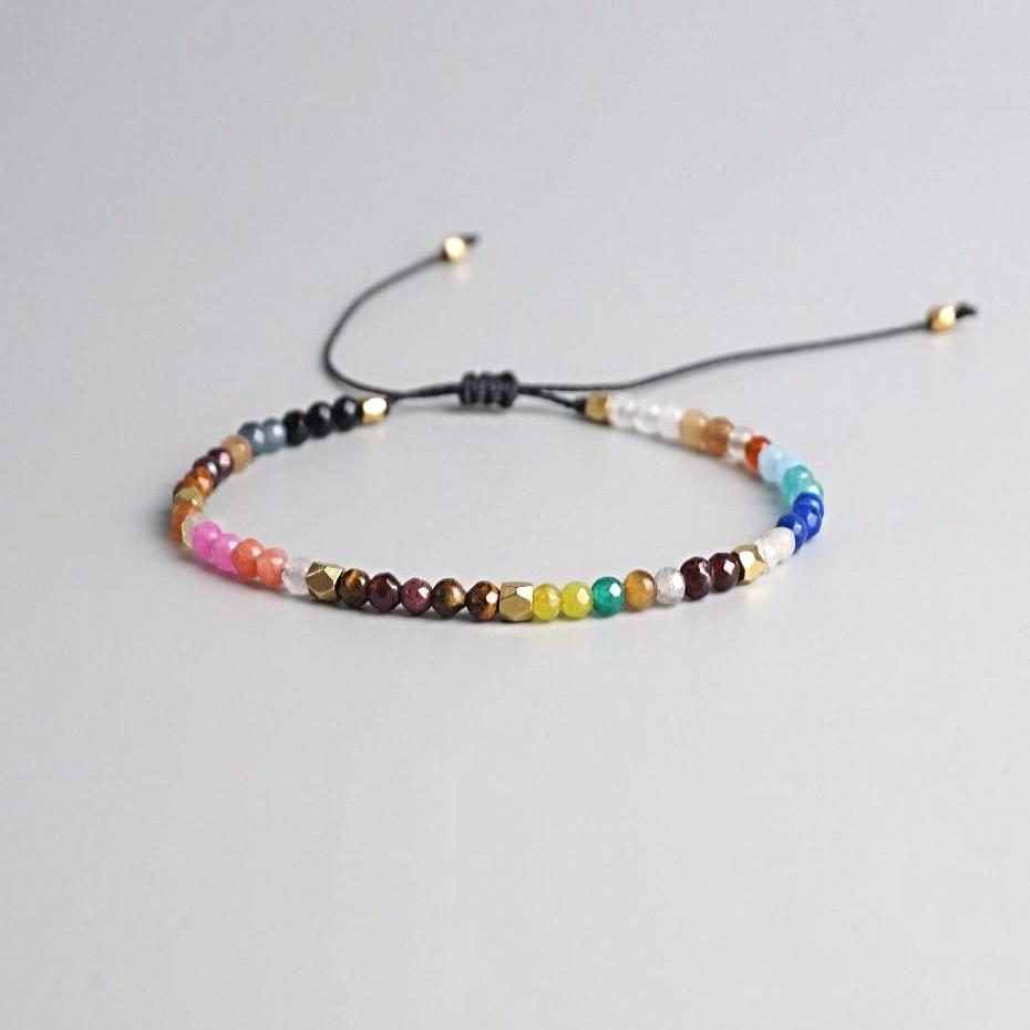 Full Circle Chakra Adjustable Bracelet
