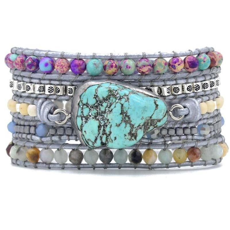 The Turquoise Protection Wrap Bracelet