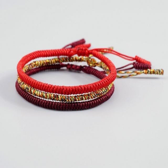 Red/Multi/Maroon Tibetan Good Luck Set