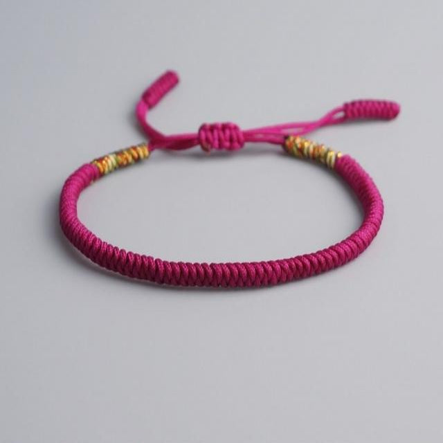 Purple Tibetan Good Luck Rope Bracelet
