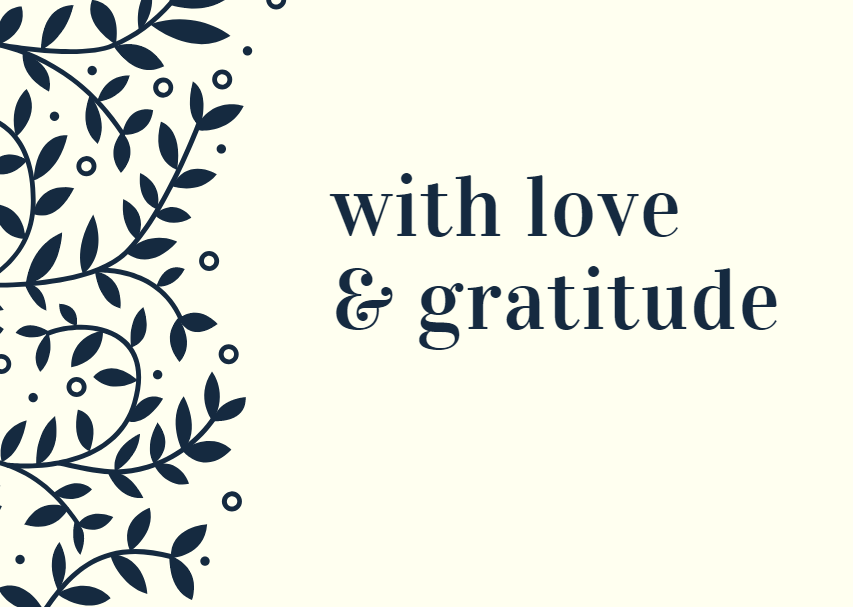 With Love & Gratitude Gift Card