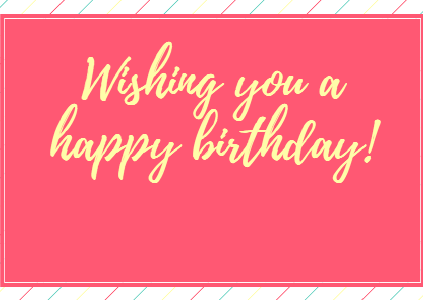 Wishing You A Happy Birthday Gift Card