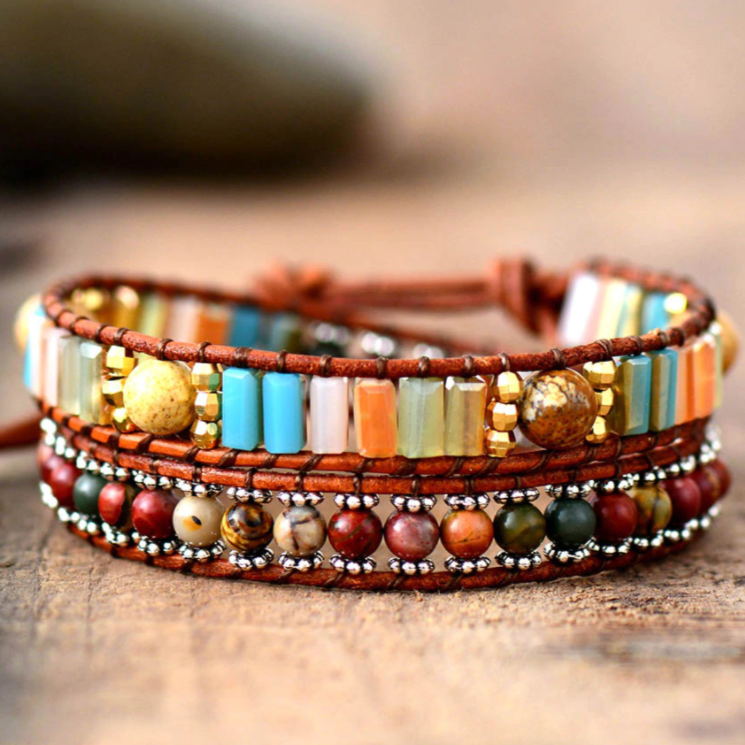 Tropical Jasper Wrap Bracelet