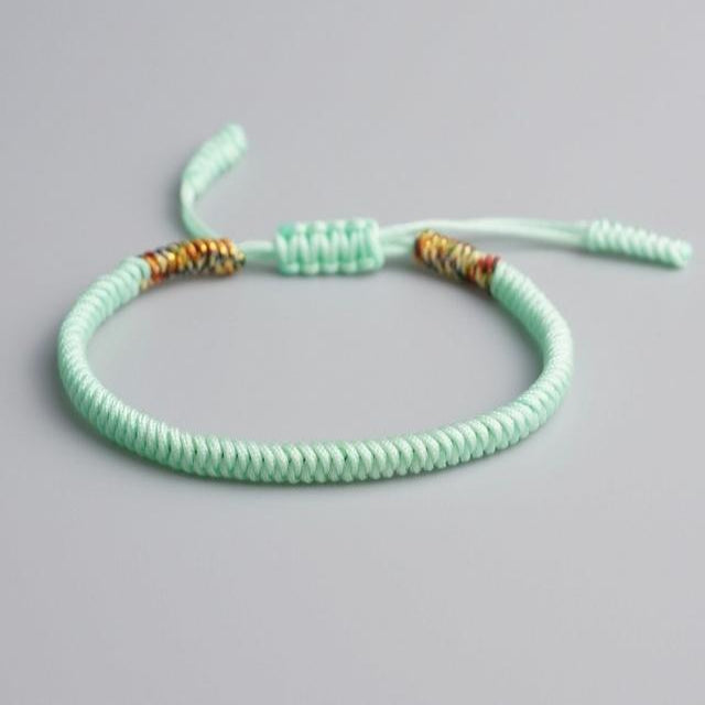 Light Blue Tibetan Good Luck Rope Bracelet
