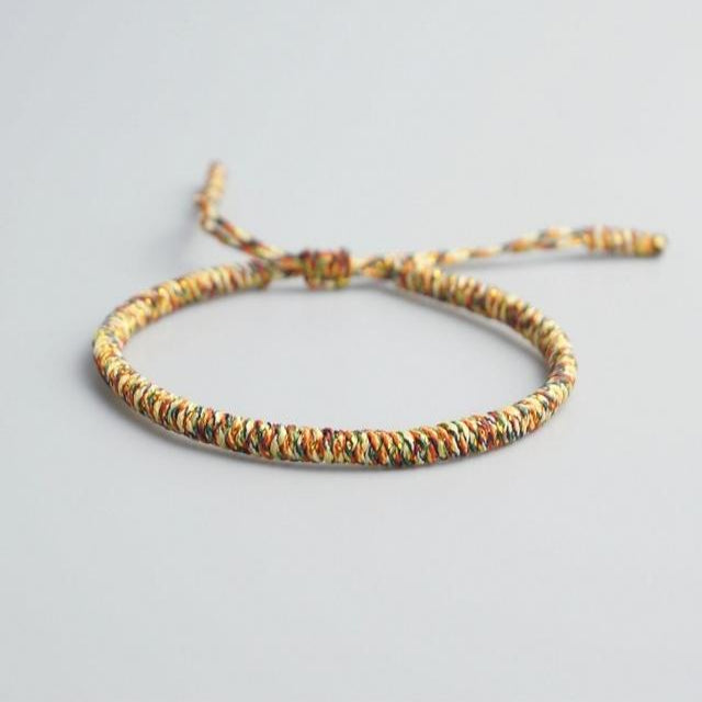 Multi-Colored Tibetan Good Luck Rope Bracelet