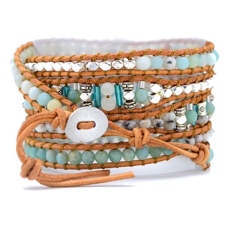Waterfall Queen Amazonite Wrap Bracelet