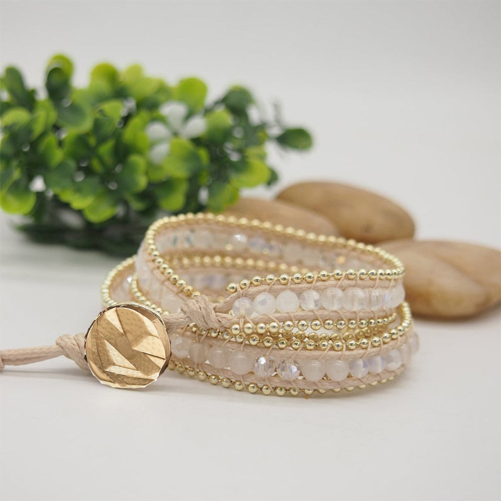 Ice Queen White Jade Wrap Bracelet
