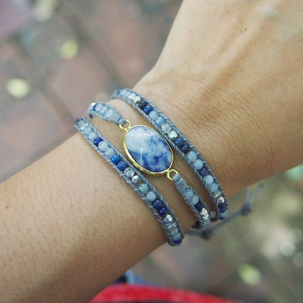 Sea of Love Triple Wrap Bracelet