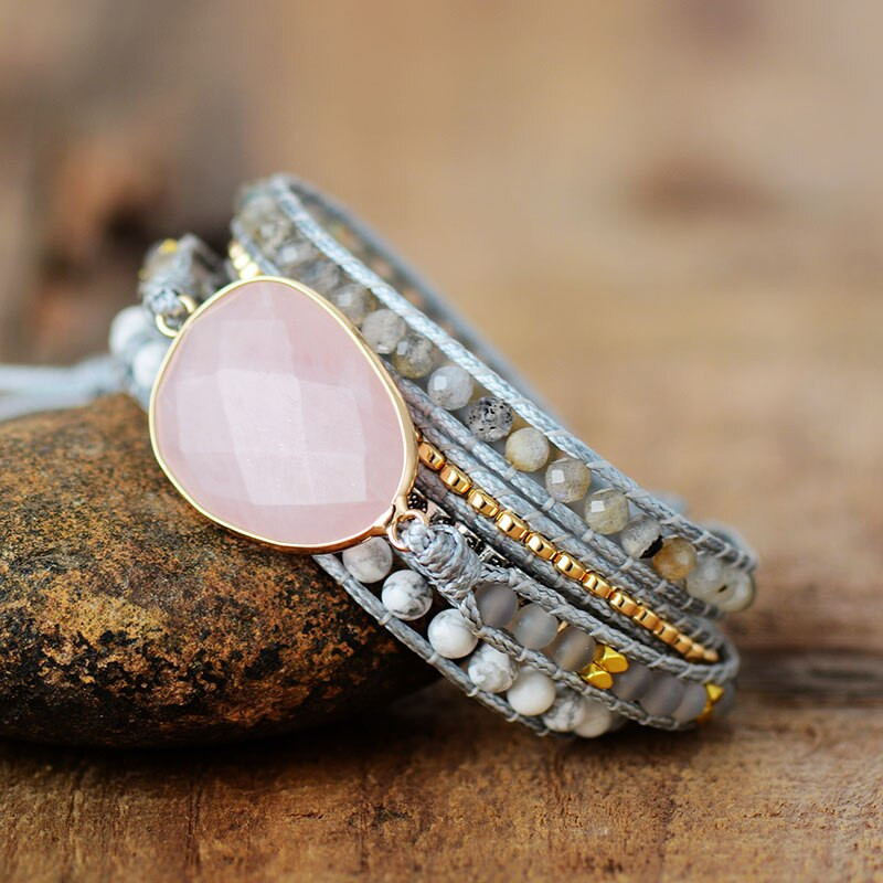 Loving Rose Quartz Wrap Bracelet