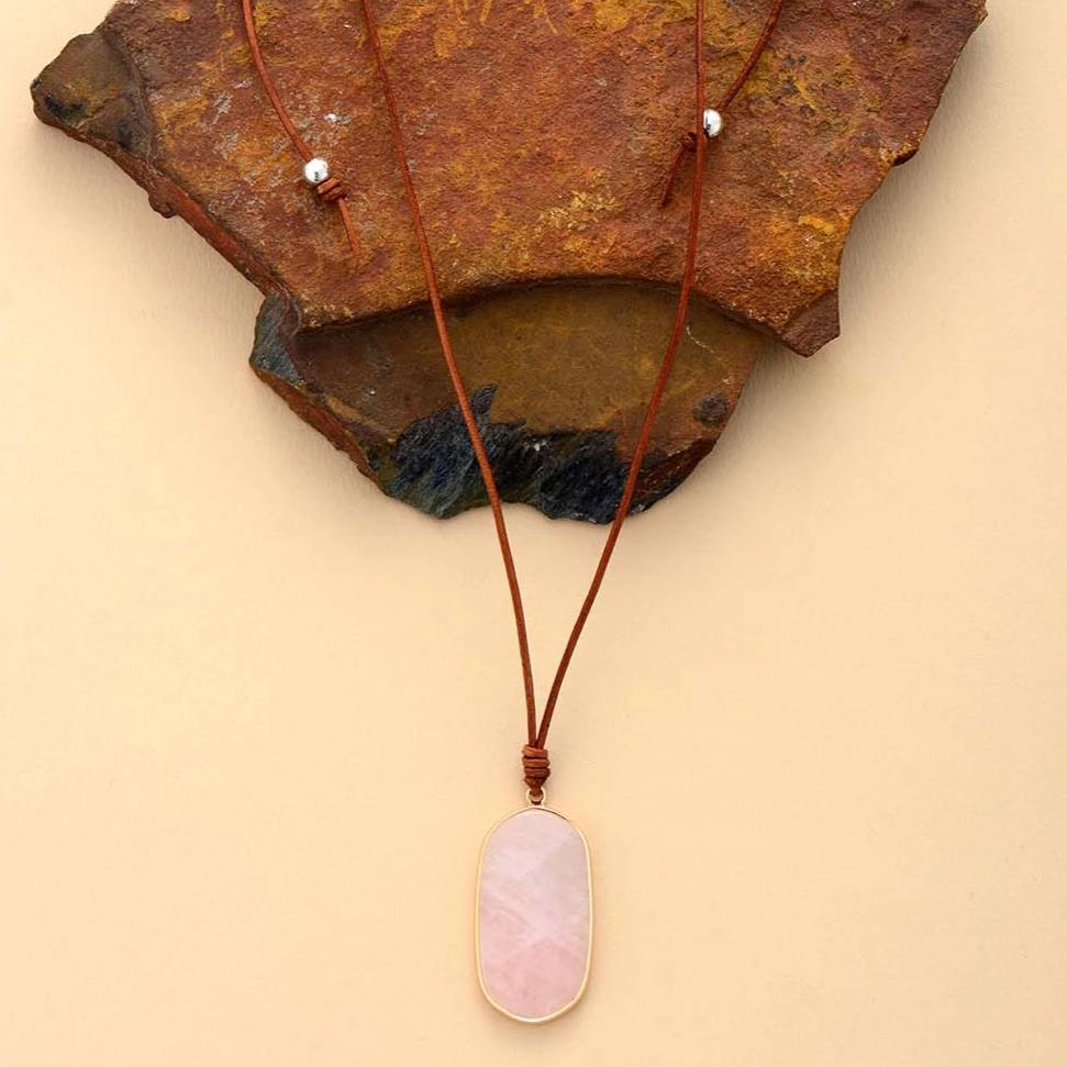 Adjustable Rose Quartz Necklace