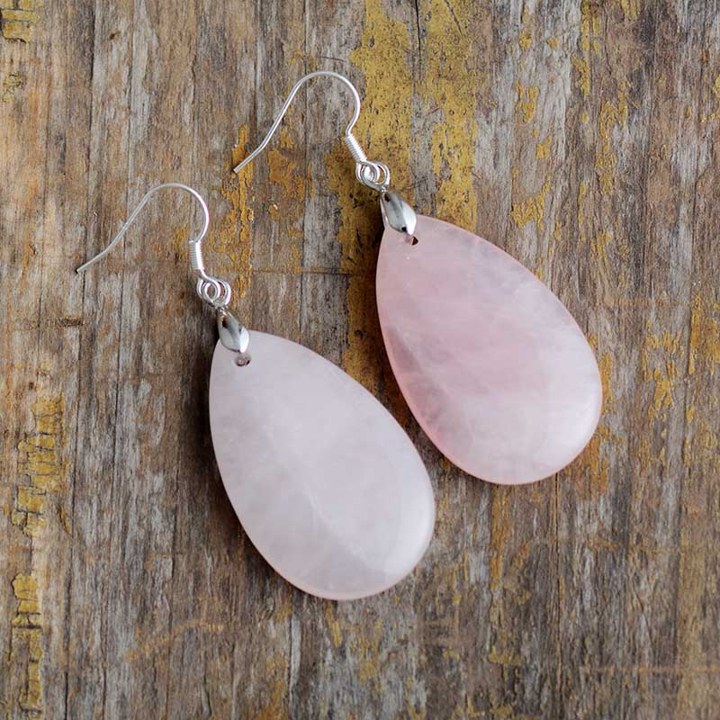 Loving Rose Quartz Earrings