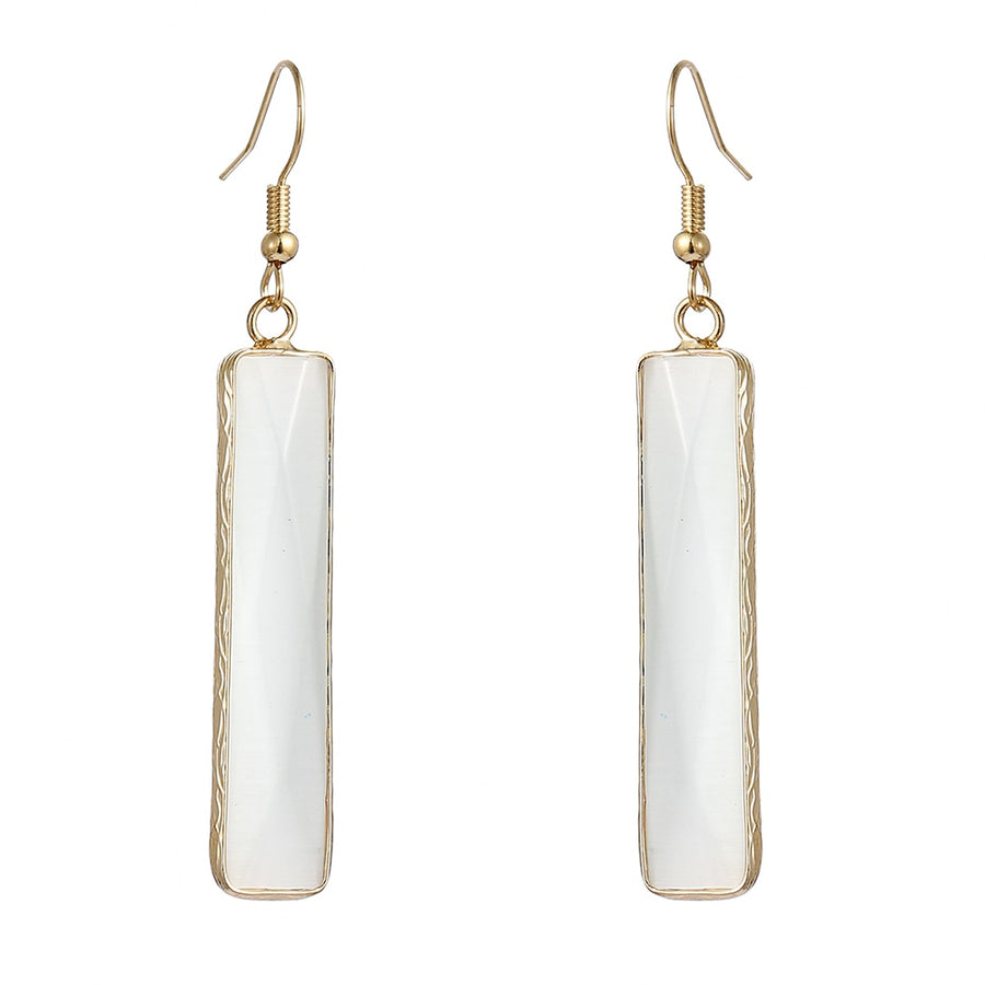 Balancing Moonstone Dangle Earrings