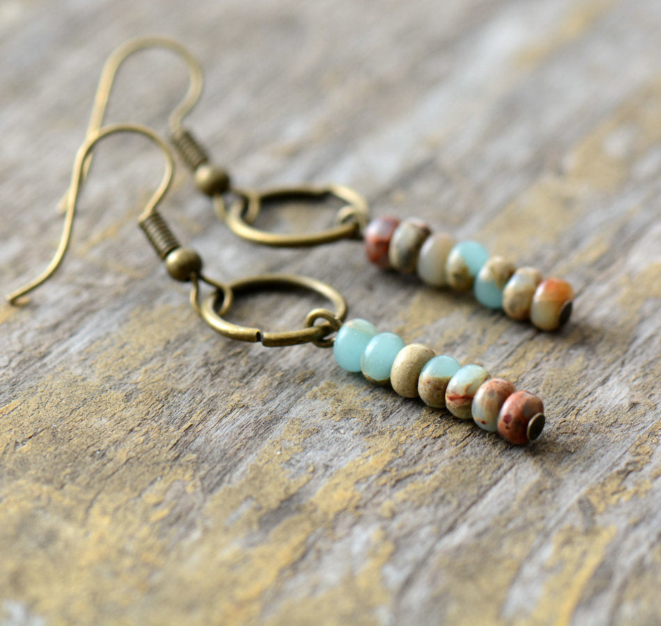 Bohemian Jasper Dangle Earrings