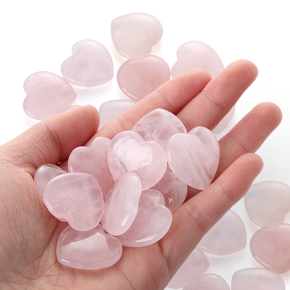 Heart Shaped Natural Rose Quartz