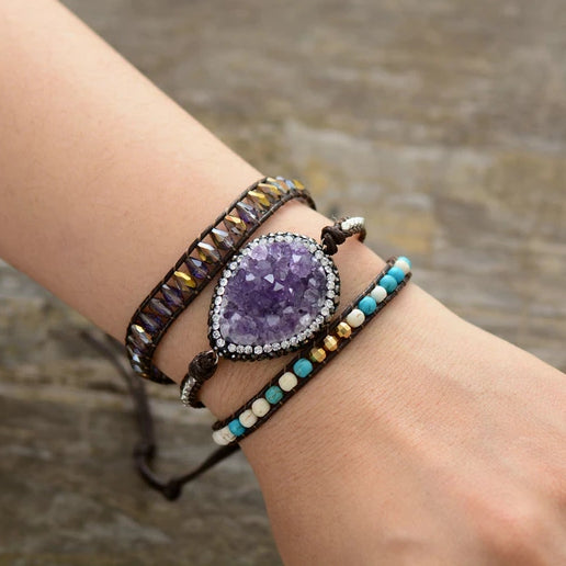 Mystical Lepidolite Transition Bracelet
